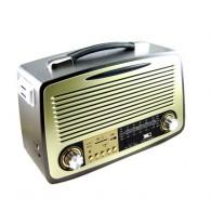 Радиоприемник MD-1700BTch (Bluetooth/USB/SD/microSD/FM/пульт/акб/4*R20) корич