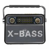 Радиоприемник М-181ВТ (Bluetooth/USB/microSD/Fm/AUX/акб) черный Meier