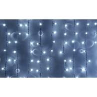 """Эл. штора 560 LED """"Дождь"""" белая, 3х3м прозр. шнур"""