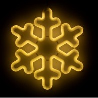 "Фигура светод. ""Снежинка"" 30х30х2см, тепл.белая.(5060088)"