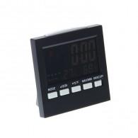 Часы электронные (дата, будильник, термометр, LCD- подсветка) (1258335)