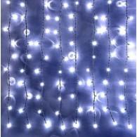 Эл. штора уличная 625 LED 2,5*1,5м белая, черн.шнур(OLDCL625-TWW-E-F)