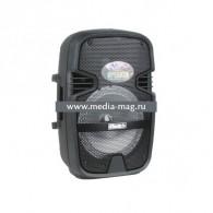 "Колонка портативная 8"" OM-801ch (Bluetooth/USB /microSD/FM/ПДУ/ 1 микр) черная"