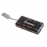Картридер SmartBuy SBRH 750 (SD/microSDHC/MS/M2) Combo + Хаб