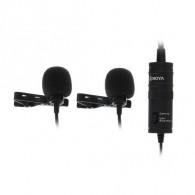 Микрофон Boya BY-M1DM (2 микр. на прищепке) (126656)