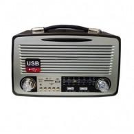 Радиоприемник MD-1700BT (Bluetooth/USB/SD/microSD/FM/пульт/акб/4*R20) чер