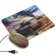 Мышь CBR Tank + коврик USB