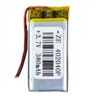 Аккумулятор li-pol 3.7V 380 mAh (40*20*40) литий-полимер