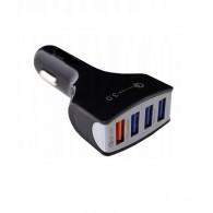 Авто-адаптер 12V->4*USB 7A QC YY-008