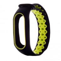 Ремешок для фитнес-браслета Mi2 черно-зел (83784)