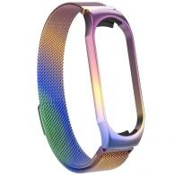 Ремешок для фитнес-браслета Mi3\Mi4 металл цветной (тонкое плетение)