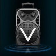 "Колонка портативная 12"" OM-V12 (Bluetooth/USB /microSD/ПДУ/1микр) чер"