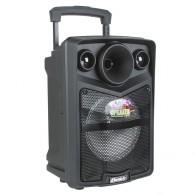 "Колонка портативная 8"" OM-K15 (Bluetooth/USB /microSD/FM/ПДУ/ 1 беспр) черная"