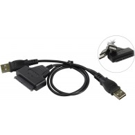 "Кабель- адаптер Orient UHD-300 (USB->SATA , для SSD\HDD 2.5"", двойной USB)"