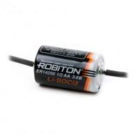 Батарейка Robiton 14250AX (1\2AA) 3V с аксиальными выводами
