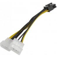 Кабель питания для видеокарт PCI-E, 2big->8pin Orient C392