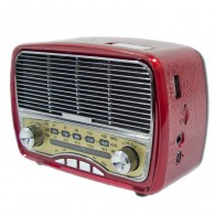 Радиоприемник М-165ВТ (Bluetooth/USB/microSD/Fm/AUX/акб.18650) красный Meier