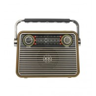 Радиоприемник М-180ВТ (Bluetooth/USB/microSD/Fm/AUX/акб) корич.Meier