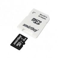 Карта памяти microSDHC SmartBuy 32Gb Class 10 U3 V30 A1 с адапт.