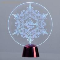 """Подставка """"Снежинка"""" 13,5х11см, 1 LED, RGB (2446501)"""