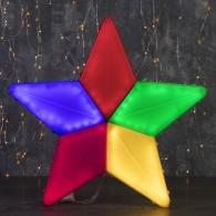 """Фигура уличная """"Звезда цветная"""" 44х44х4см, 3м шнур, 8 реж, (3612440)"""