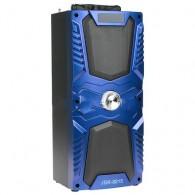 Колонка портативная JBK-8815ch (USB /microSD/FM/дисплей) синяя
