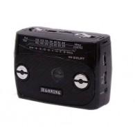 Радиоприемник HN-312UAT (Fm/USB/microSD/акб/фонарь/PowerBank) чер Haoning
