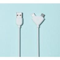 Кабель USB- iPhone5/microUSB Remax Souffle 1м RC-031t (2 в 1)