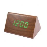 Часы настольные VST-864-4 зел.цифры, кор.корпус (дата, темп., будильник,4*ААА)