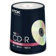 TDK CD-R 700 Mb 52x Cake box /100
