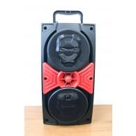 Колонка портативная JBK-8840 (USB /SD/FM/дисплей/пульт) красная
