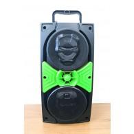 Колонка портативная JBK-8840 (USB /SD/FM/дисплей/пульт) зеленая