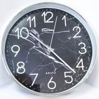 """Часы настенные круглые """"Темный мрамор"""" 7824 (1АА)"""