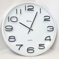 Часы настенные круглые белые (7633) (1АА)