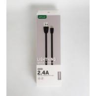 Кабель USB- lightning APPACS U181 (5v, 2.4A) 1м
