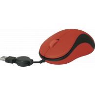 Мышь Defender MS-960 USB красная, скруч. кабель (52961)