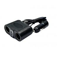 Разветвитель в авто на 2 устройства + USB Olesson 1645 (1000mA)