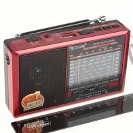Радиоприемник RX-6666ch (USB+microSD,фонарь) красный