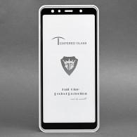 Защитное стекло 2,5D для Samsung SM-A750 Galaxy A7 2018 черное (90662)