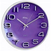 Часы настенные круглые фиол циферблат 7633 (1АА)
