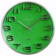 Часы настенные круглые зеленый циферблат (1АА)