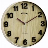 Часы настенные круглые светлое дерево (1АА)