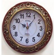 Часы настенные круглые с бронз.узором (1АА)
