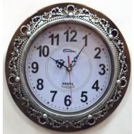 Часы настенные круглые с серебр.узором (1АА)