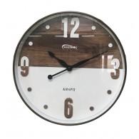 Часы настенные круглые дерево\бел циферблат 7825 (1АА)
