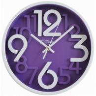 Часы настенные круглые фиол\бел циферблат 7645 (1АА)