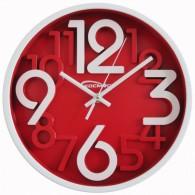 Часы настенные круглые крас\бел циферблат 7645 (1АА) большие