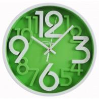 Часы настенные круглые зел\бел циферблат 7645 (1АА)