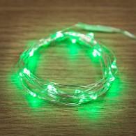 """Гирлянда """"Роса"""" 50 минидиодов, зеленая 3м серебр.проволока (3*R06)"""