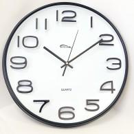 Часы настенные круглые черные (7633) (1АА)